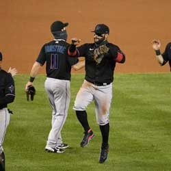 Sanchez Wins Debut Game with the Miami Marlins